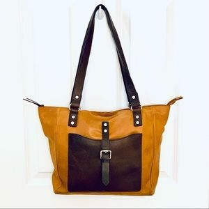 Nino BOSSI Genuine Leather Two Tone Shoulder Bag